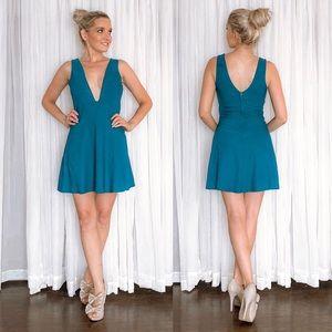 Plunge Party Mini Dress